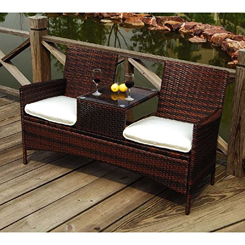gartenbank san vincenzo braun tete tete bank polyrattan braun gartenm bel online. Black Bedroom Furniture Sets. Home Design Ideas