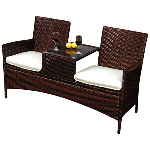 polyrattan rattan gartenbank garten tete tete bank. Black Bedroom Furniture Sets. Home Design Ideas