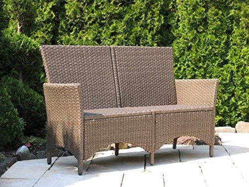 rattan gartenbank vintage 150cm rattanbank polyrattan. Black Bedroom Furniture Sets. Home Design Ideas