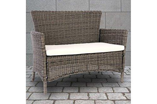 sitzbank naturgrau polyrattan bank gartenbank outdoor. Black Bedroom Furniture Sets. Home Design Ideas