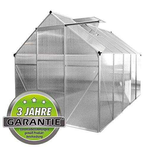 ALU Gewächshaus Garten Treibhaus Tomatenhaus Frühbeet 4,75m² + Fenster