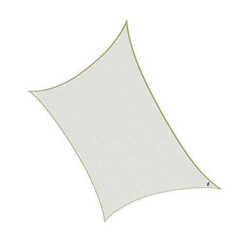 Cool Area 3x5m Rechteck Sonnensegel Sonnenschutz Segel, UV Schutz wetterbeständig HDPE atmungsaktiv für Balkon Terrasse Garten