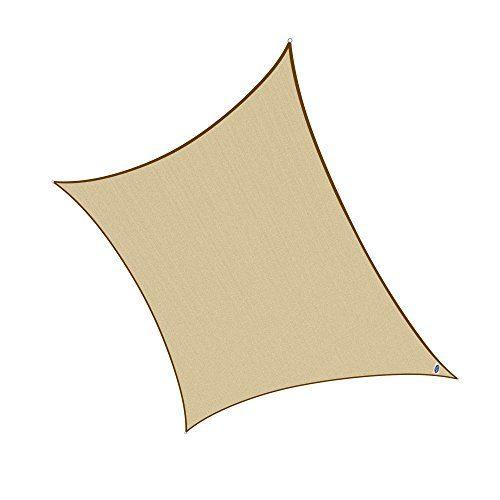 Cool Area 4,5x4,5m Quadrat Sonnensegel Sonnenschutz Segel, UV Schutz PES wasserabweisend für Balkon Terrasse Garten