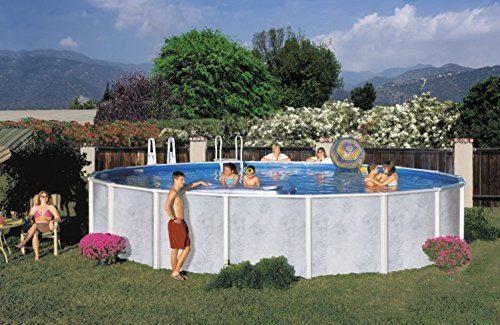 Interline 50000034 rund Pool Diana Durchmesser 3,60m, Tiefe 1,32m, Set ohne Sandfilter