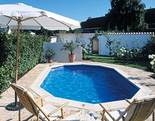 Interline 50000050 oval Pool Diana Durchmesser 7,30m x 3,60m, Tiefe 1,32m, Set ohne Sandfilter