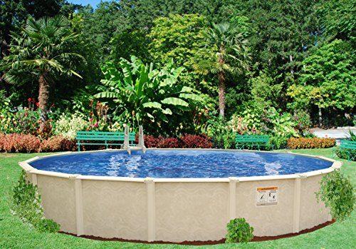Interline 50001618 rund Pool Sunlake Durchmesser 5,50m, Tiefe 1,32m, Set ohne Sandfilter, Wasserinhalt ca. 29m³