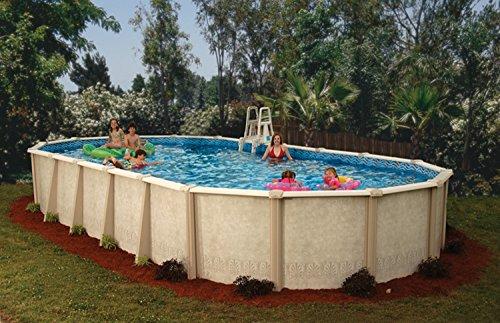 Interline 50001624 oval Pool Sunlake Durchmesser 7,30m x 3,60m, Tiefe 1,32m, Set ohne Sandfilter, Wasserinhalt ca. 35m³