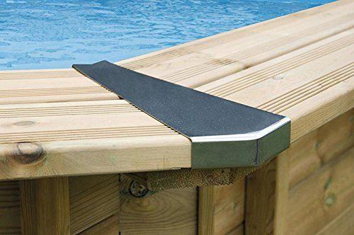 Interline 50700259 Inox Stahl Eckverbindung Set für Bali Pool 6-eckig, 3,55m / 4,34m