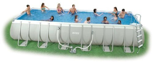 intex swimming pool rechteck stahlwand frame schwimmbad 732 x 366 x 132cm 28362gs gartenm bel. Black Bedroom Furniture Sets. Home Design Ideas