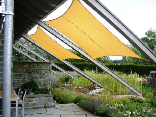 JAROLIFT Sonnensegel Rechteck Sonnenschutzsegel - atmungsaktiv - Größe und Farbe nach Wahl
