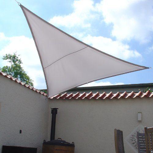 LUXUS Terrassen Sonnensegel dreieck der ExtraKlasse 3,00m wasserdicht GRAU Regenschutz
