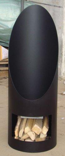 OutTrade Kamin Ofen Soler, schwarz, Schwarz, 44 x 120 cm