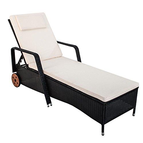polyrattan gartenliege sonnenliege formentera f r 1 person. Black Bedroom Furniture Sets. Home Design Ideas