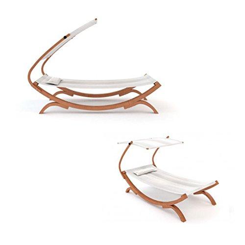 sonnenliege gartenliege relaxliege mit sonnendach kissen. Black Bedroom Furniture Sets. Home Design Ideas
