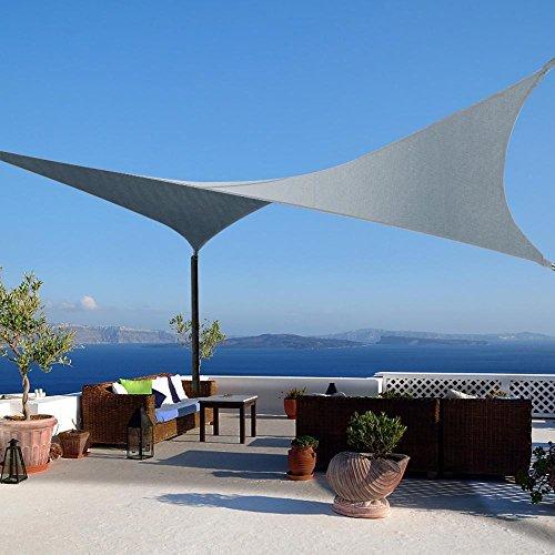 yahee 3x3m sonnensegel sonnenschutz garten uv schutz rechteckig grau m bel24 gartenm bel. Black Bedroom Furniture Sets. Home Design Ideas