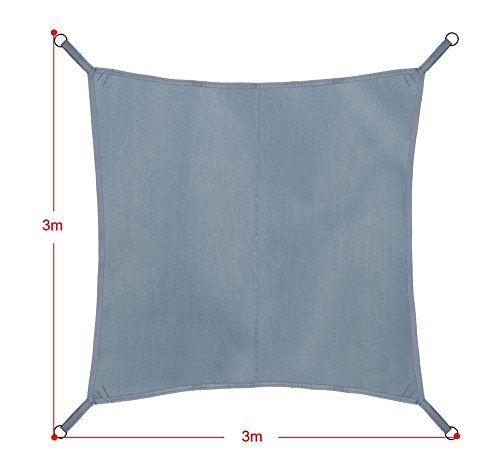 Yahee Sonnensegel Sonnenschutz Segel 3x3M UV-Schutz Beschattung Quadrat