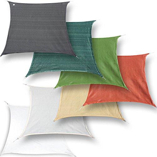 hanSe® Marken Sonnensegel Sonnenschutz Segel Quadrat 2x2 m