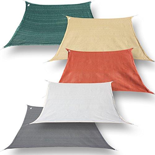 hanSe® Marken Sonnensegel Sonnenschutz Segel Trapez 4 / 5 x 3m