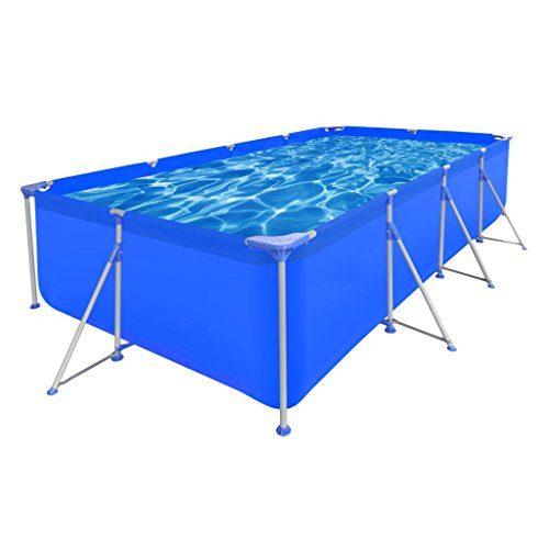 vidaXL Schwimmbecken Planschbecken Schwimmbad Swimming Pool Stahlwand Metallrahmen Rund