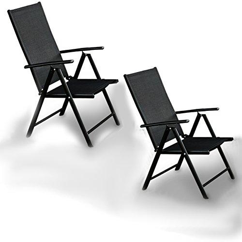 2er set alu klappstuhl gartenstuhl aluminium campingstuhl hochlehner liege schwarz 0 gartenm bel. Black Bedroom Furniture Sets. Home Design Ideas