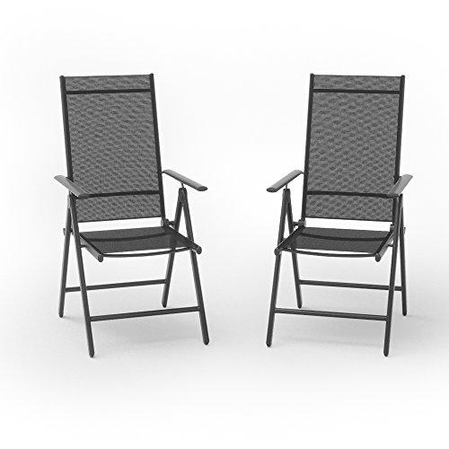 2er set alu gartenstuhl klappstuhl hochlehner campingstuhl aluminium liegestuhl m bel24. Black Bedroom Furniture Sets. Home Design Ideas