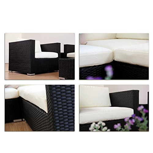 napoli polyrattan schwarz gartenm bel rattan lounge. Black Bedroom Furniture Sets. Home Design Ideas