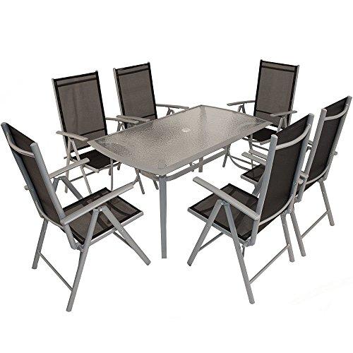 ssitg sitzgruppe aluminium gartenset essgruppe alu klappstuhl gartenm bel set glas neu m bel24. Black Bedroom Furniture Sets. Home Design Ideas