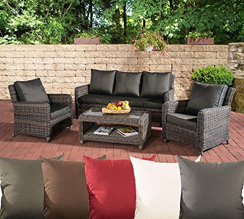 clp poly rattan garten loungem bel set san fernando alu gestell 3er sofa 2 sessel lounge. Black Bedroom Furniture Sets. Home Design Ideas