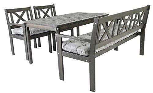 ambientehome garten sitzgruppe essgruppe massivholz evje. Black Bedroom Furniture Sets. Home Design Ideas