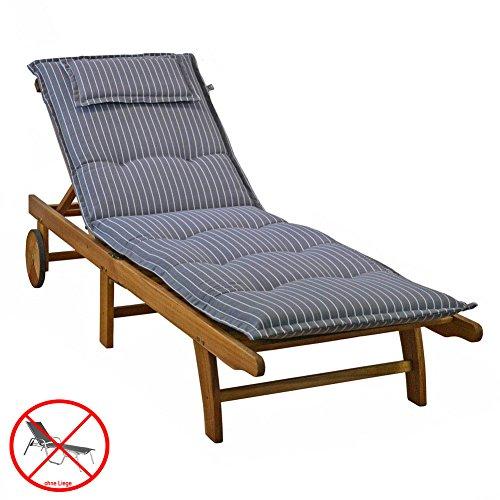 auflagen fr liegen kettler dessin 709 in grau 195x60x8 cm liegenauflagen ohne liege 0 m bel24. Black Bedroom Furniture Sets. Home Design Ideas