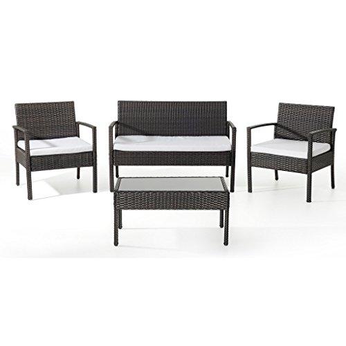 ebs polyrattan gartenmbel set gartengarnitur sitzgruppe lounge 1 tisch 1 kleines sofa 2 sthle 0. Black Bedroom Furniture Sets. Home Design Ideas