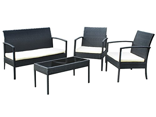 gartenm bel gartenset poly rattan lounge sitzgruppe grau. Black Bedroom Furniture Sets. Home Design Ideas