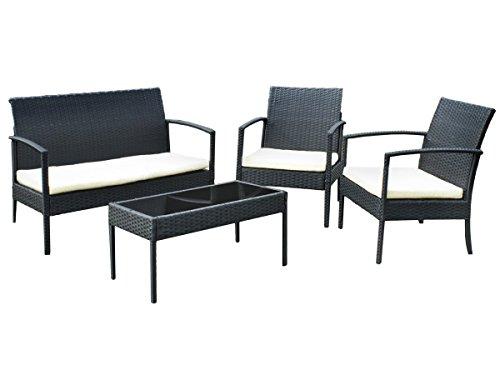 Gartenm bel gartenset poly rattan lounge sitzgruppe grau - Gartenmobel sitzgruppe rattan lounge ...