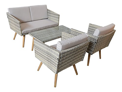 gartenset cassis gelb grau beige meliert lounge garten set. Black Bedroom Furniture Sets. Home Design Ideas