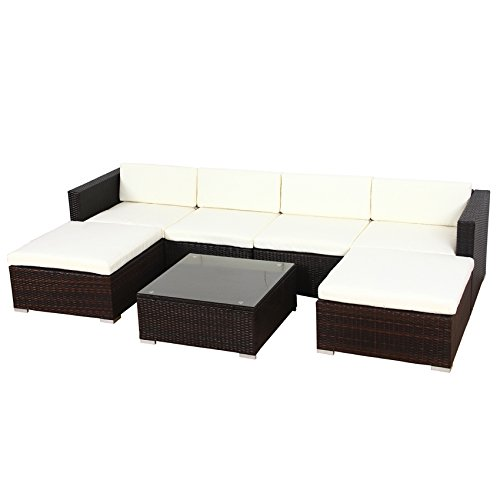 poly rattan lounge gartenset sofa garnitur polyrattan gartenm bel xl braun m bel24. Black Bedroom Furniture Sets. Home Design Ideas
