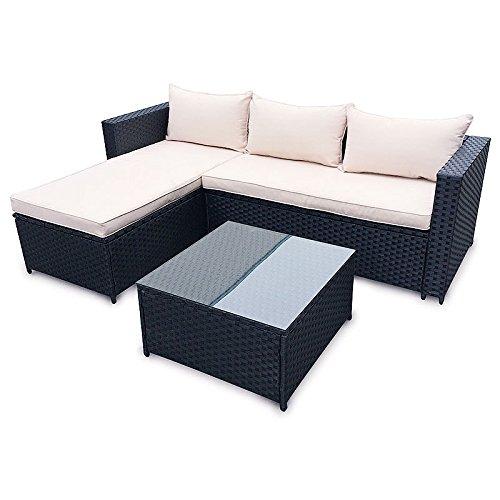 poly rattan set gartenm bel rattan lounge gartenset sofa garnitur couch eck m bel24 gartenm bel. Black Bedroom Furniture Sets. Home Design Ideas