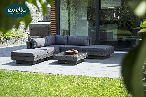 polyrattan lounge melbourne 6 personen flachgeflecht grau gartenm bel terassenm bel. Black Bedroom Furniture Sets. Home Design Ideas