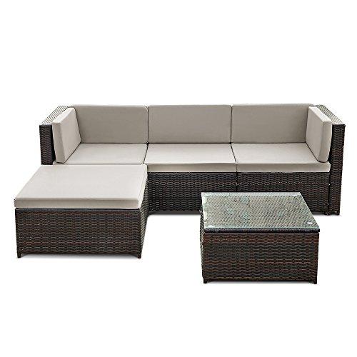 iKayaa Rattan Lounge Set Loungemöbel Loungeset Loungegruppe 3 Farbe ...