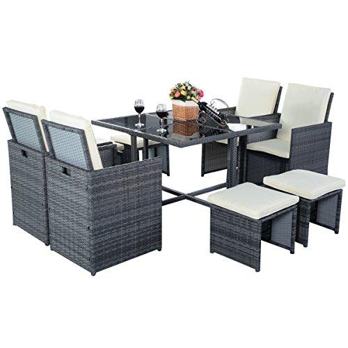 Poly-Rattan-Gartenmbel-Sitzgarnitur-Sitzgruppe-Essgruppe-Gartengarnitur-Gartenset-Rattan-Lounge-Set-0