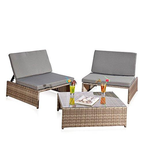 Sitzgarnitur-2-Sessel-und-Tisch-Gartenset-Gartenmbel-Lounge-Poly-Rattan-grau-0
