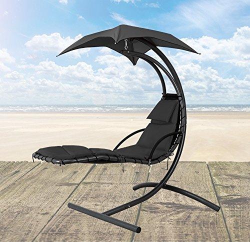 schwebeliege mit sonnendach samoa gartenliege sonnenliege h ngeliege h ngesessel loungesessel. Black Bedroom Furniture Sets. Home Design Ideas