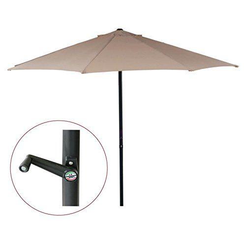 Ø 3m Sonnenschirm Gartenschirm Marktschirm Sonnenschutz Schirm mit Kurbel