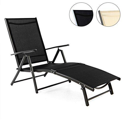 Alu Stahl Klappliege Textilene Sonnenliege Liegestuhl Campingliege schwarz creme Rahmen silber anthrazit