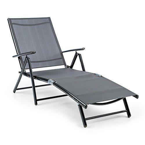 Blumfeldt Modena Sonnenliege 64x85x170cm schwarz oder grau
