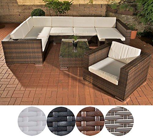 clp garten loungem bel set barcelona aluminium polyrattan 6 sitzpl tze garnitur mit 25. Black Bedroom Furniture Sets. Home Design Ideas