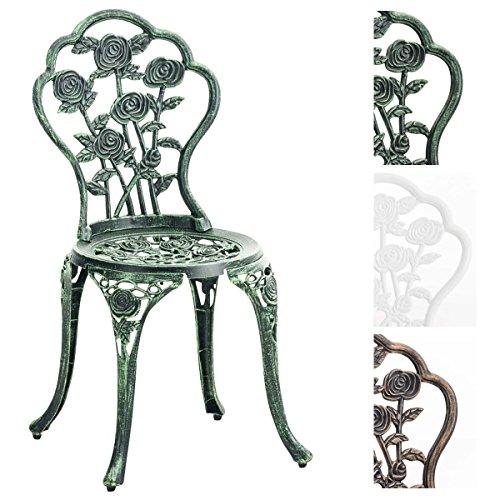 clp stuhl sharma gartenstuhl eisen metallstuhl aus aluminium guss nostalgischer look max. Black Bedroom Furniture Sets. Home Design Ideas