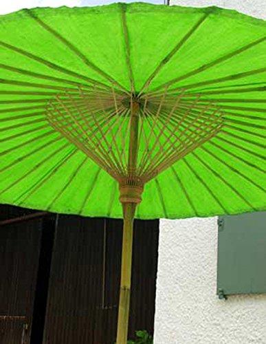 Der extravagante original GRÜNE Sonnenschirm aus Thailand, super robuste Bambus Qualität