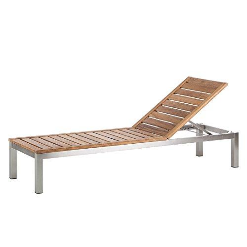 gartenliege soho teakholz mit edelstahl hochwertig teakm bel sonnenliege holzliege m bel24. Black Bedroom Furniture Sets. Home Design Ideas