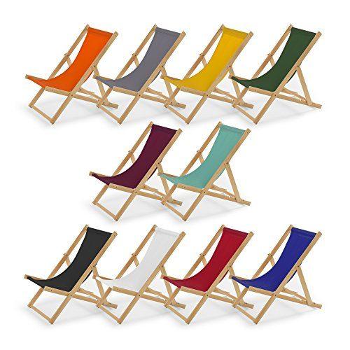 Gartenliege aus Holz Liegestuhl Relaxliege Strandliege Holzliege