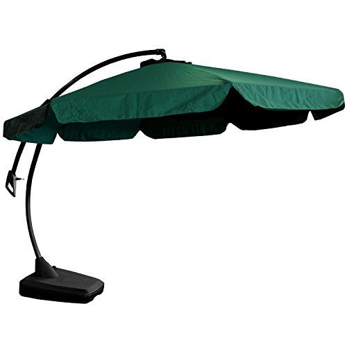 lagerr umung wohaga sonnenschirm set ampelschirm 3 5m st nder gr n schwarz sonnenschutz. Black Bedroom Furniture Sets. Home Design Ideas